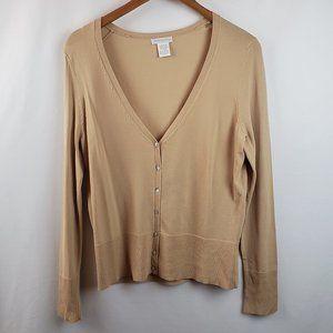 Worthington Womens Button Front Cardigan Sweater